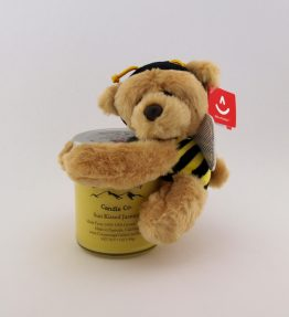 7OZ Candle with Buzzy Bee Bear