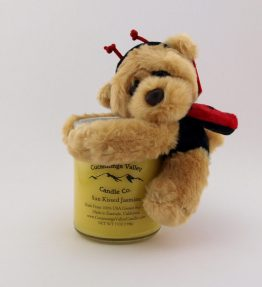 7OZ Candle with Lady Bug Bear